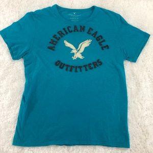 !! American Eagle Logo Tee Large